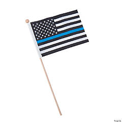 Thin Blue Line Small Flags - 6