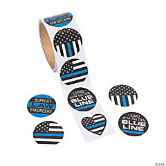 Thin Blue Line Sticker Rolls