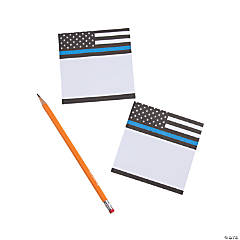 Thin Blue Line Sticky Notes