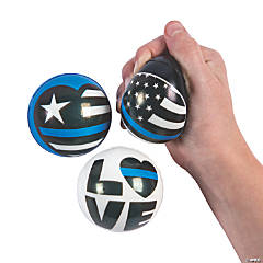 Thin Blue Line Stress Balls