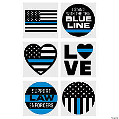 Thin Blue Line Temporary Tattoos