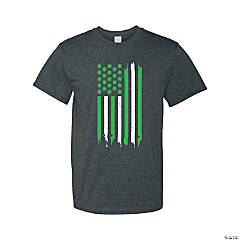 Thin Green Line Adult's T-Shirt - 2XL