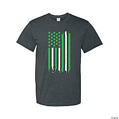Thin Green Line Adult's T-Shirt- Medium