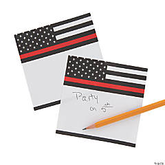 Thin Red Line Sticky Notes