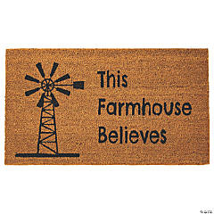 This Farmhouse Believes Coir Mat
