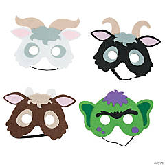 Three Billy Goats Gruff Masks