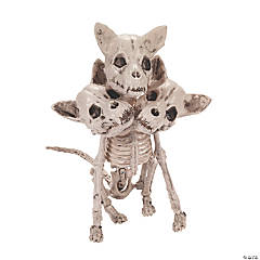Three-Headed Dog Skeleton Halloween Decoration