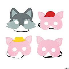 Three Little Pigs & Big Bad Wolf Masks
