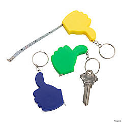 Thumbs Up Tape Measure Keychains