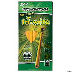 Ticonderoga® My First Tri-Write Primary Size No. 2 Pencils with Eraser, 36/Box