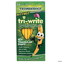 Ticonderoga® My First Tri-Write Primary Size No. 2 Pencils without Eraser, 36/Box