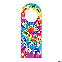 Tie-Dye Doorknob Hanger Sticker Scenes