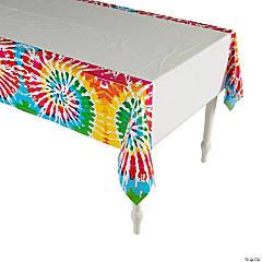 Tie-Dye Swirl Plastic Tablecloth