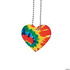 Tie-Dyed Heart Necklaces