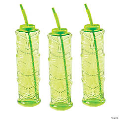 Tiki Plastic Yard Glasses