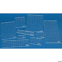 Tim Holtz Acrylic Stamping Grid Blocks 9/Pkg-