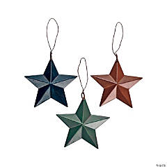 Tin Barn Star Christmas Ornaments