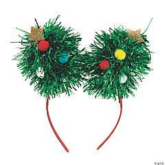 Tinsel Christmas Tree Headbands
