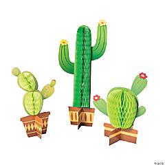 Tissue Cactus Centerpieces