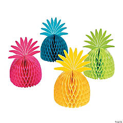 Tissue Paper Bright Pineapple Centerpieces