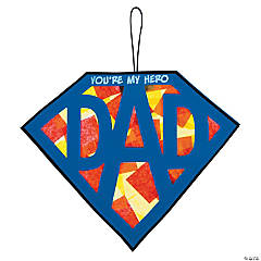 Tissue Paper Super Dad Sign Craft Kit