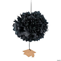 Tissue Pom-Poms with Mortarboard Hats