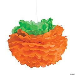 Tissue Pumpkin Hanging Decorations