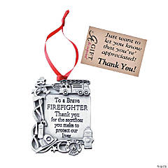 To a Brave Firefighter Ornament