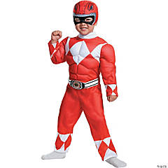 Toddler Boy's Muscle Chest Power Rangers™ Red Ranger Costume - 3T-4T