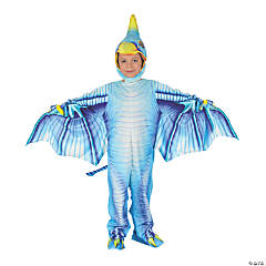 Toddler Dark Blue Pterodactyl Costume - 2T-4T