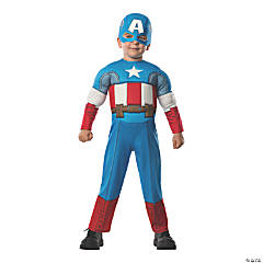 Toddler Deluxe Muscle Chest Captain America Costume - 2T