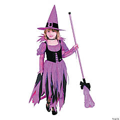 Toddler Girl's Barbie™ Trendy Sorceress Witch Costume - 3T-4T