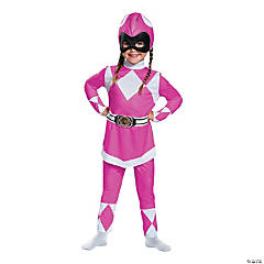 Toddler Girl's Classic Power Rangers™ Pink Ranger Costume - 3T-4T