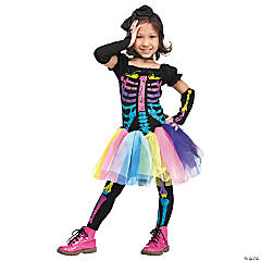 Toddler Girl's Funky Punk Bones Costume