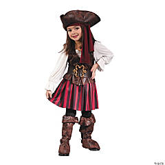 Toddler Girl's High Seas Pirate Costume - 3T-4T