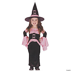 Toddler Girl's Pretty Pink Witch Costume - 2T-4T