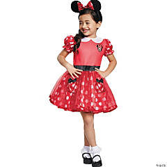 Toddler Girl's Red Minnie Mouse™ Costume Dress - 2T