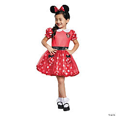 Toddler Girl's Red Minnie Mouse™ Costume Dress - 3T-4T