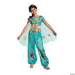 Toddler Girl's Classic Aladdin™ Live Action Teal Jasmine Costume - 3T-4T