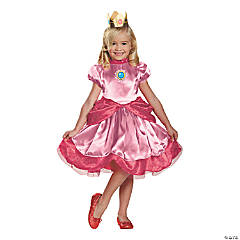 Toddler's Deluxe Princess Peach Costume - 3T-4T