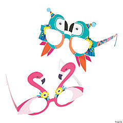 Toucan & Flamingo Party Glasses