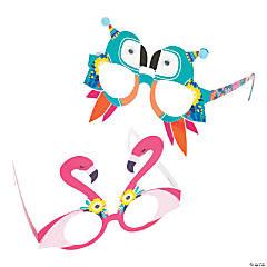 Toucan & Flamingo Party Glasses