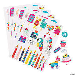 Toucan & Parrot Party Stickers
