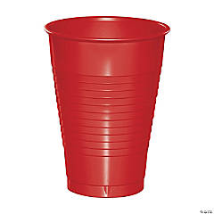 Touch of Color Classic Red 12 oz Plastic Cups 60 Count
