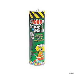 Toxic Waste® Sour Smog Balls Candy Tube Bank