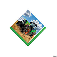 Tractor Party Beverage Napkins