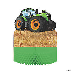 Tractor Party Honeycomb Centerpiece