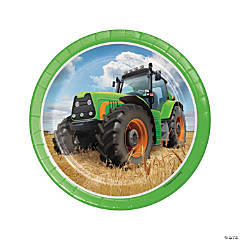 Tractor Party Paper Dessert Plates - 8 Ct.