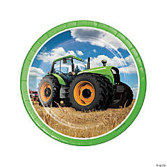 Tractor Party Paper Dinner Plates - 8 Ct.