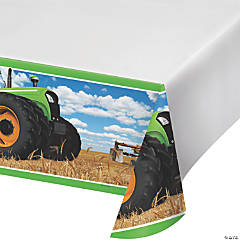 Tractor Party Tablecloth